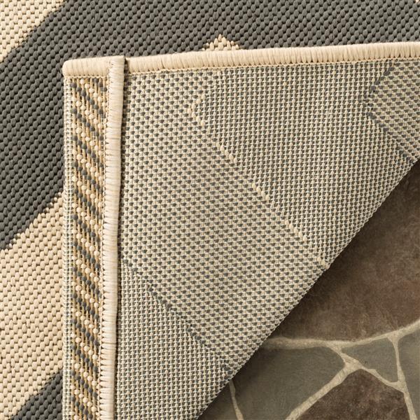 Safavieh Courtyard Rug - 2.3' x 10' - Polypropylene - Gray/Beige