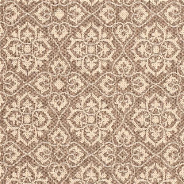 Safavieh Courtyard Rug - 4' x 5.6' - Polypropylene - Brown/Cream
