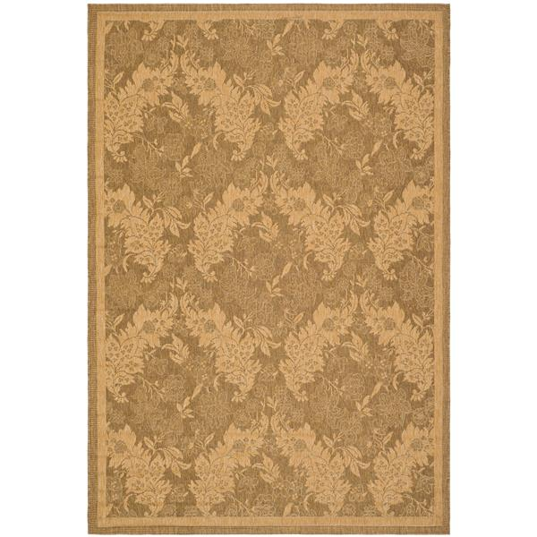 Safavieh Courtyard Rug - 5.3' x 7.6' - Polypropylene - Gold/Natural