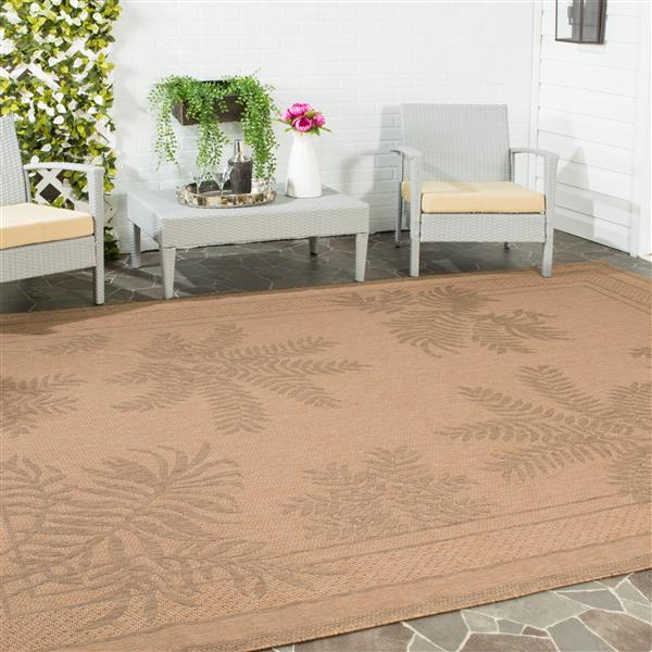 Safavieh Courtyard Rug - 4' x 5.6' - Polypropylene - Natural/Gold