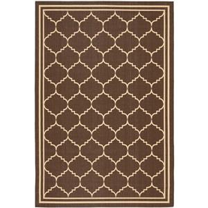 Safavieh Courtyard Rug - 5.3' x 7.6' - Polypropylene - Chocolate