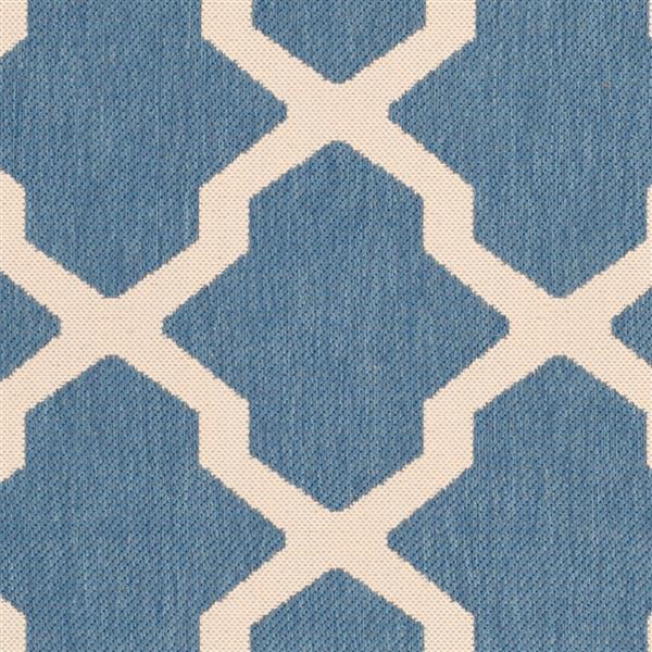 Safavieh Courtyard Rug - 4' x 4' - Polypropylene - Blue/Beige