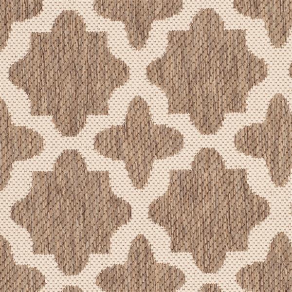 Safavieh Courtyard Rug - 2.6' x 5' - Polypropylene - Brown/Gray