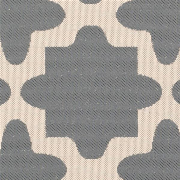 Safavieh Courtyard Rug - 5.3' x 7.6' - Polypropylene - Anthracite