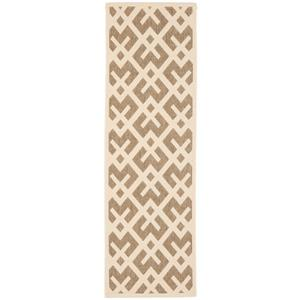 Safavieh Courtyard Rug - 2.3' x 10' - Polypropylene - Brown/Gray