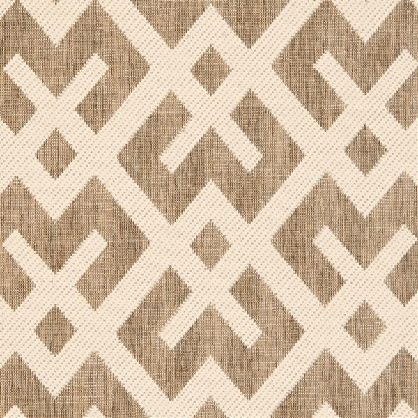 Safavieh Courtyard Rug - 2.3' x 14' - Polypropylene - Brown/Ivory