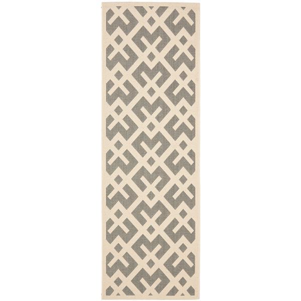 Safavieh Courtyard Rug - 2.3' x 6.6' - Polypropylene - Ivory