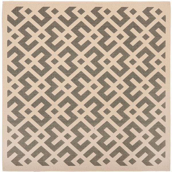 Safavieh Courtyard Rug - 5.3' x 5.3' - Polypropylene - Ivory