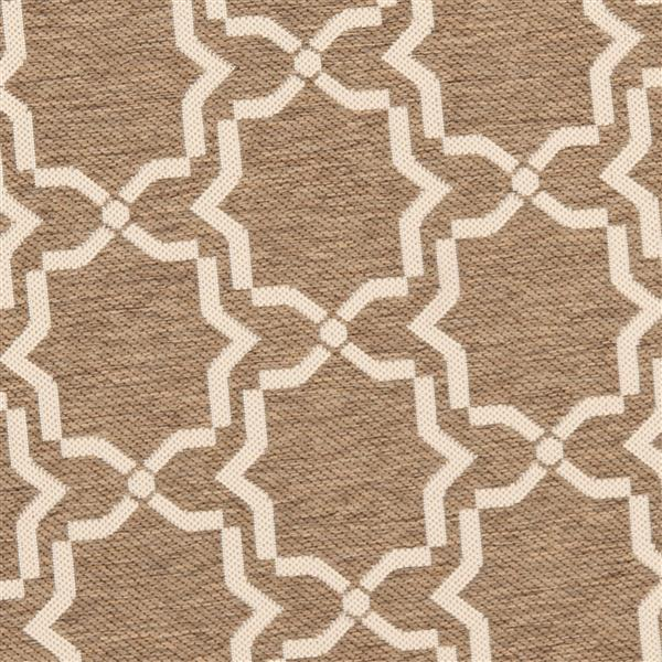 Safavieh Courtyard Rug - 5.3' x 7.6' - Polypropylene - Brown/Ivory