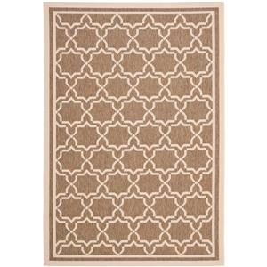 Safavieh Courtyard Rug - 5.3' x 7.6' - Polypropylene - Brown/Ivory