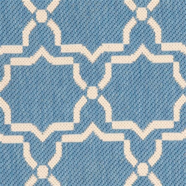 Safavieh Courtyard Rug - 2.3' x 12' - Polypropylene - Blue/Beige