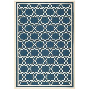 Safavieh Courtyard Rug - 4' x 5.6' - Polypropylene - Navy Blue