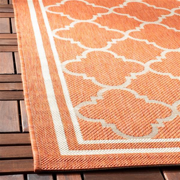 Safavieh Courtyard Rug - 2.3' x 14' - Polypropylene - Terracotta