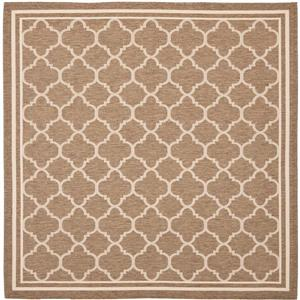 Safavieh Courtyard Rug - 5.3' x 5.3' - Polypropylene - Brown/Ivory