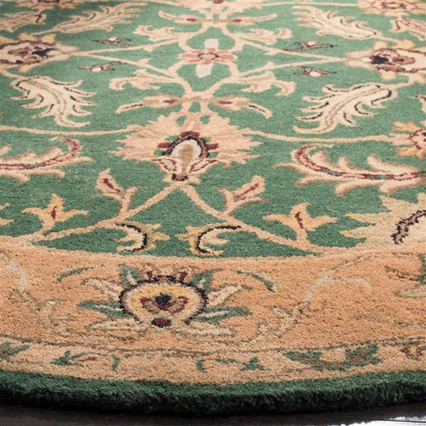 Safavieh Heritage Rug - 8' x 8' - Wool - Dark Green/Gold