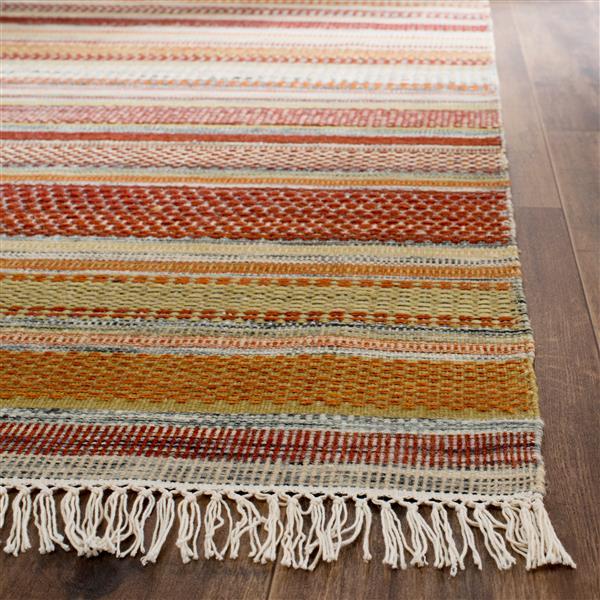 Safavieh Kilim Rug - 8' x 10' - Polyester - Brown