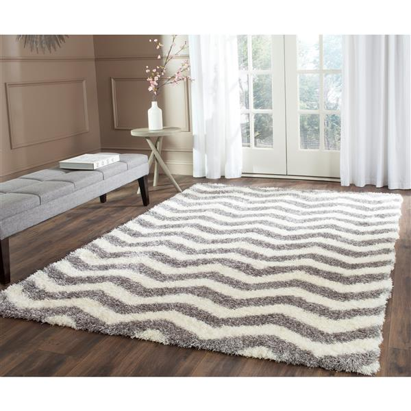 Safavieh Montreal Rug - 8' x 10' - Synthetic - Ivory/Gray