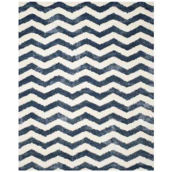 Safavieh Montreal Rug - 8' x 10' - Synthetic - Ivory/Blue