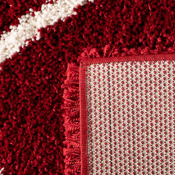 Safavieh Hudson Rug - 8' x 10' - Polypropylene - Red/Ivory