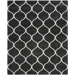 Safavieh Hudson Rug - 8' x 10' - Polypropylene - Dark Gray/Ivory