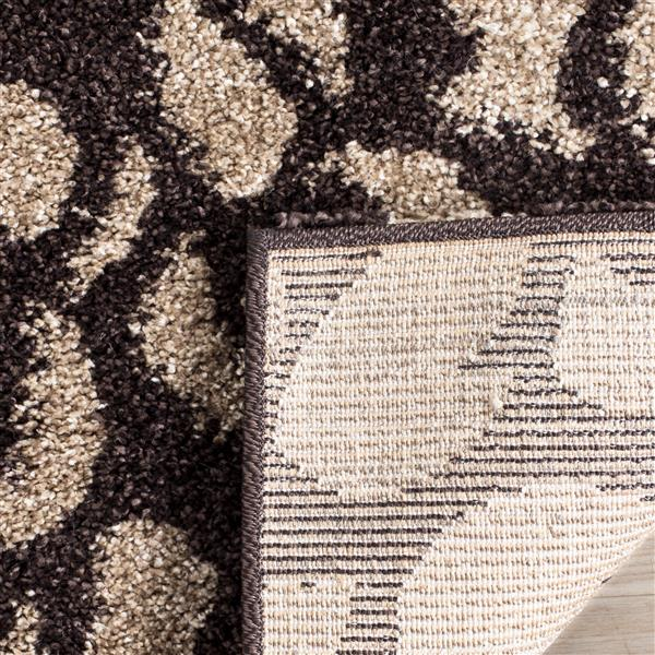 Safavieh Florida Rug - 8' x 10' - Synthetic - Dark Brown/Gray