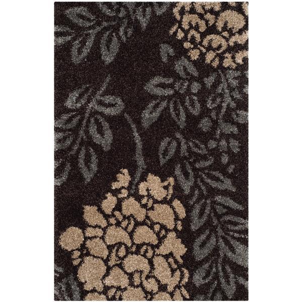 Safavieh Florida Rug - 8' x 10' - Synthetic - Dark Brown/Gray