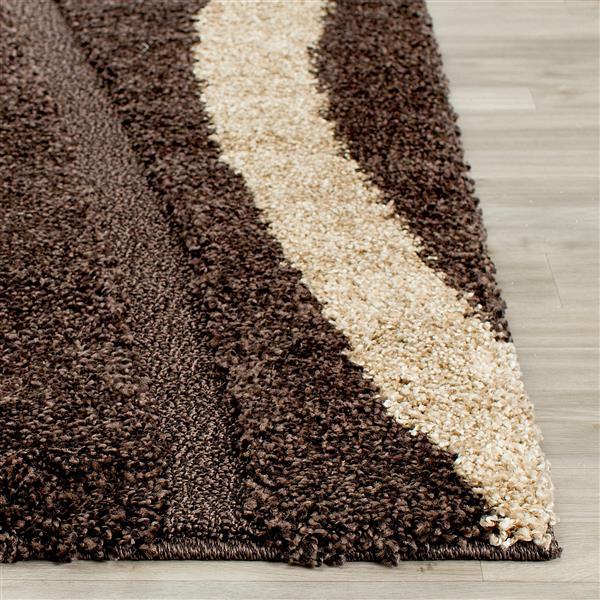 Safavieh Florida Rug - 8' x 10' - Polypropylene - Dark Brown/Beige