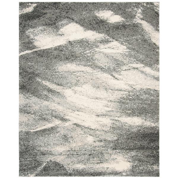 Safavieh Retro Rug - 8' x 10' - Polypropylene - Gray/Ivory