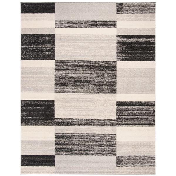 Safavieh Retro Rug - 8' x 10' - Polypropylene - Gray/Light Gray