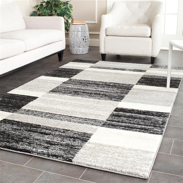 Safavieh Retro Rug - 8' x 10' - Polypropylene - Black/Light Gray