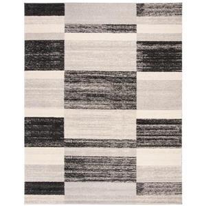 Safavieh Retro Rug - 8' x 10' - Polypropylene - Black/Light Gray