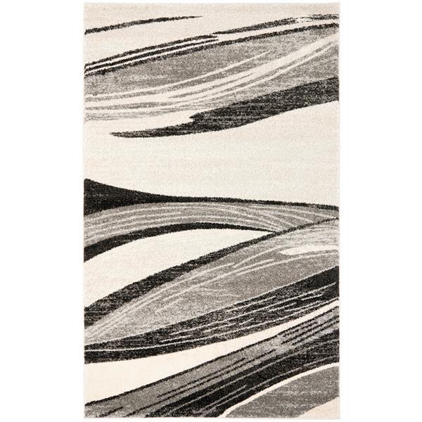 Safavieh Retro Rug - 8' x 10' - Polypropylene - Light Gray/Ivory
