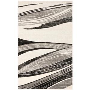 Safavieh Retro Rug - 8' x 10' - Polypropylene - Light Gray/Ivory