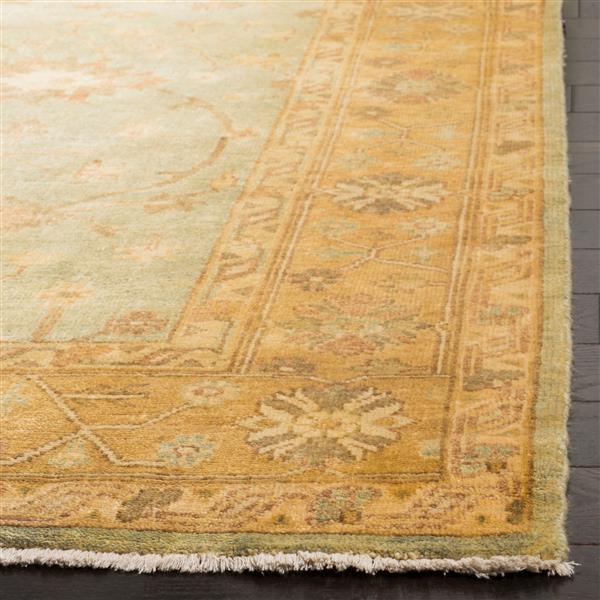 Safavieh Oushak Rug - 9' x 12' - Wool - Light Blue/Gold