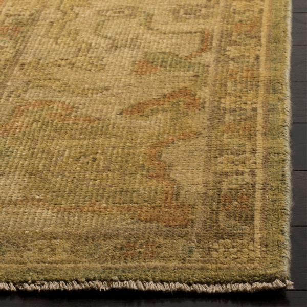 Safavieh Oushak Rug - 9' x 12' - Wool - Green/Beige