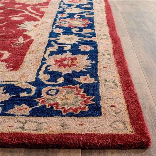 Safavieh Anatolia Rug - 9.5' x 13.5' - Wool - Red/Navy Blue