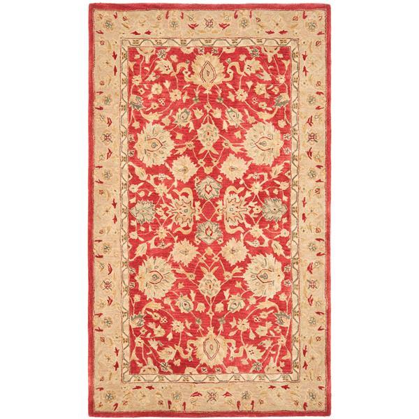 Safavieh Anatolia Rug - 9.5' x 13.5' - Wool - Red/Ivory