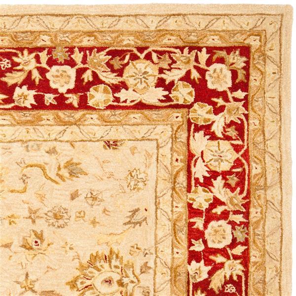 Safavieh Anatolia Rug - 9.5' x 13.5' - Wool - Ivory/Red