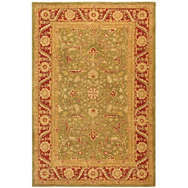 Safavieh Anatolia Rug - 9.5' x 13.5' - Wool - Green/Red