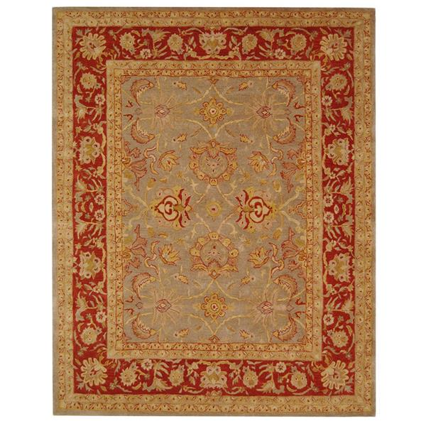 Safavieh Anatolia Rug - 9.5' x 13.5' - Wool - Gray/Red