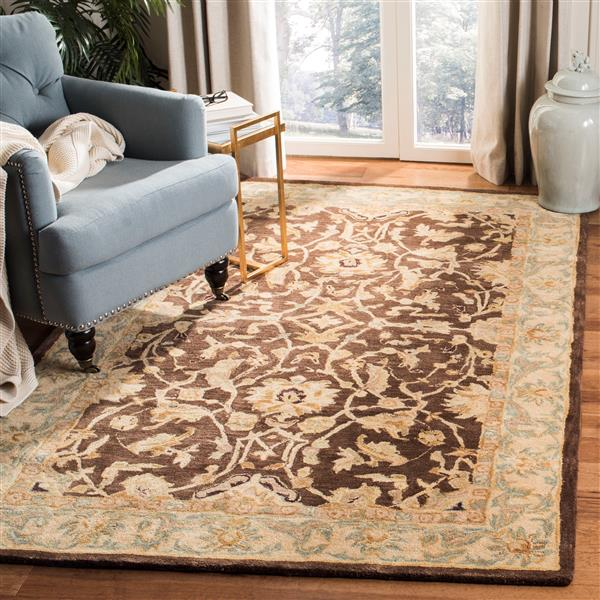 Safavieh Anatolia Rug - 9.5' x 13.5' - Wool - Brown