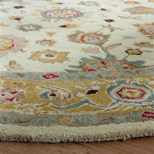 Safavieh Anatolia Rug - 9.5' x 13.5' - Wool - Ivory/Gold