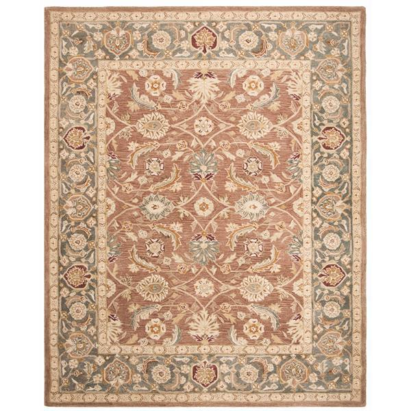 Safavieh Anatolia Rug - 9.5' x 13.5' - Wool - Brown/Blue
