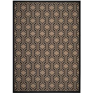Safavieh Courtyard Rug - 6.6' x 9.5' - Polypropylene - Brown/Black