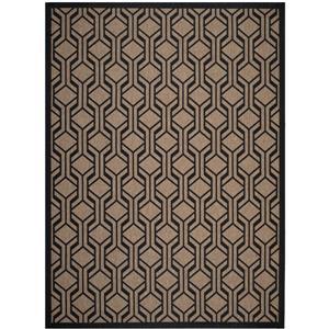 Safavieh Courtyard Rug - 6.6' x 9.5' - Polypropylene - Brown/Black