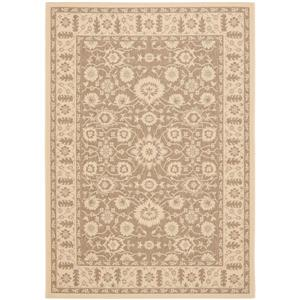 Safavieh Courtyard Rug - 6.6' x 9.5' - Polypropylene - Brown/Cream