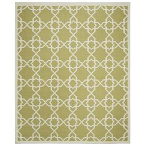 Safavieh Dhurries Rug - 9' x 12' - Wool - Olive/Ivory