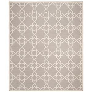 Safavieh Dhurries Rug - 9' x 12' - Wool - Gray/Ivory