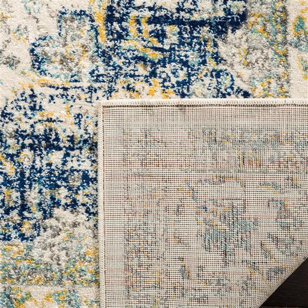 Safavieh Evoke Rug - 11' x 15' - Polypropylene - Ivory/Blue
