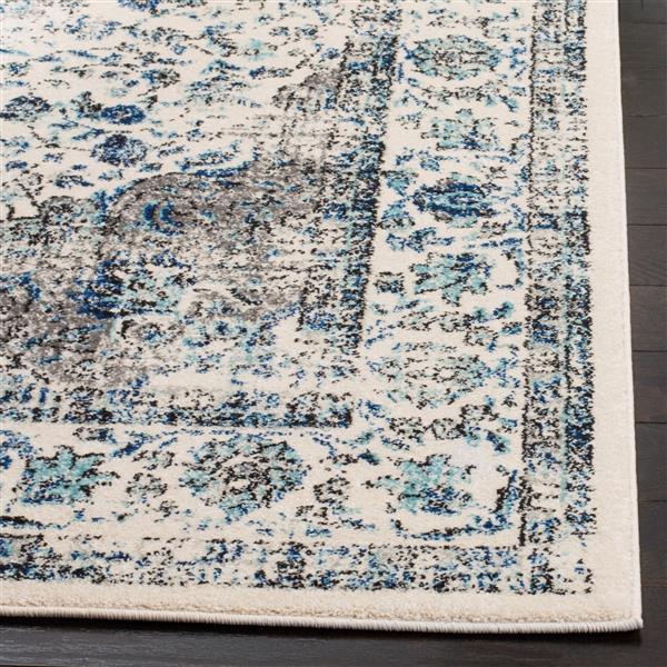 Safavieh Evoke Rug - 11' x 15' - Polypropylene - Gray/Ivory